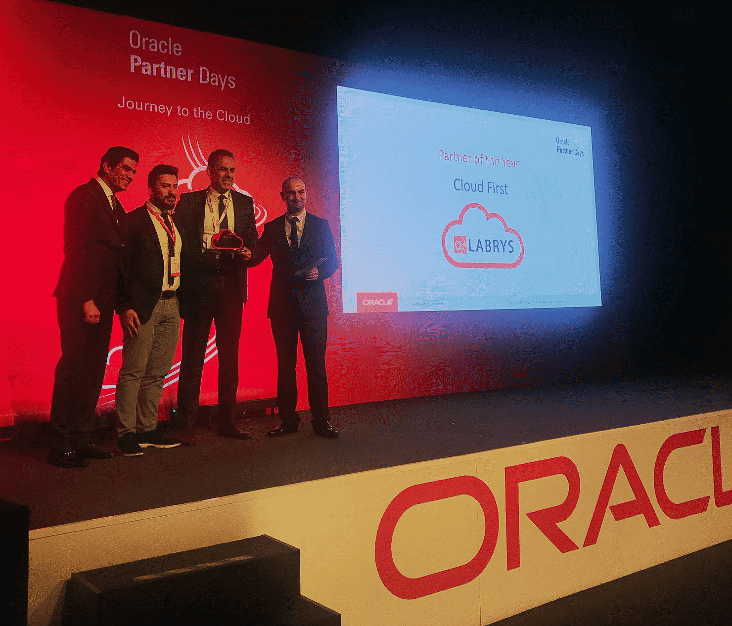 Labrys Wins Oracle's 'Cloud First' Partner of the Year Award 2017
