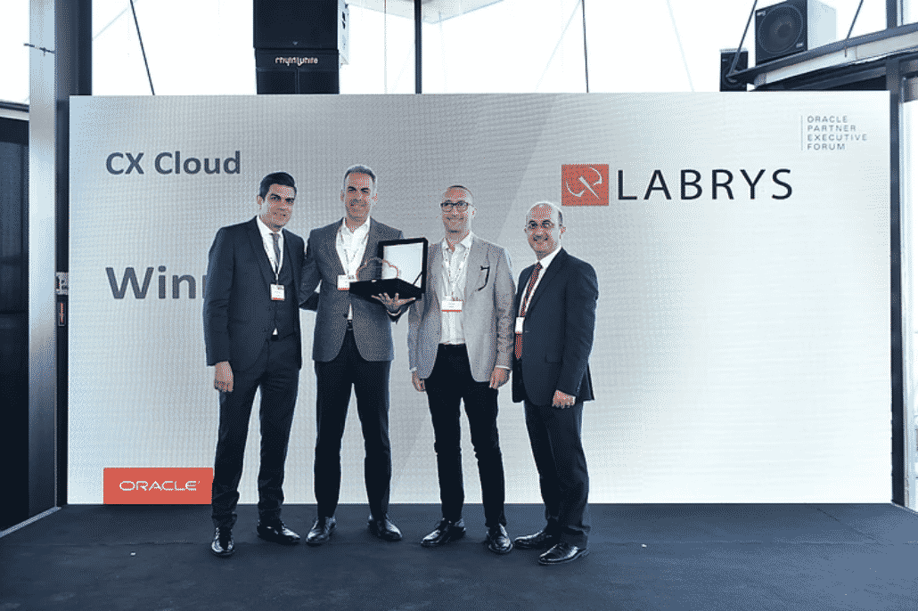 "Labrys Wins Oracle's ""CX Cloud Partner of the Year"" Award 2019!"